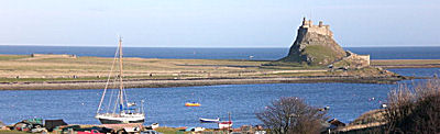 Holy Island is a few miles south of Berwick upon Tweed, Northumberland