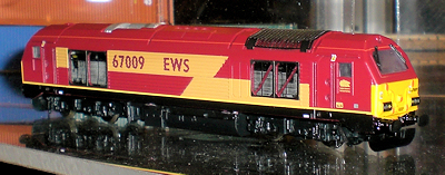Dapol 67 in EWS livery