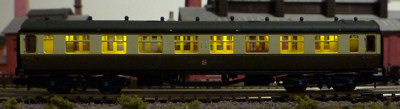 Dapol Collett Coach in Twilight