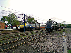 HST and A4 at Berwick